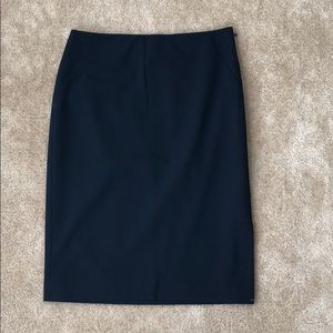 Ann Taylor Navy Blue Suiting Skirt